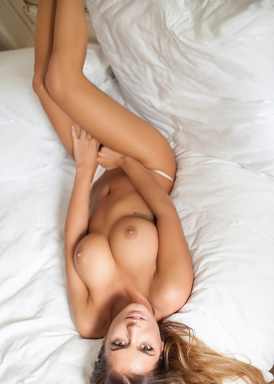 Szandra in Beautiful In White from Playboy