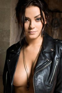 Alexandra Tyler Hot and sexy brunette in leather jacket