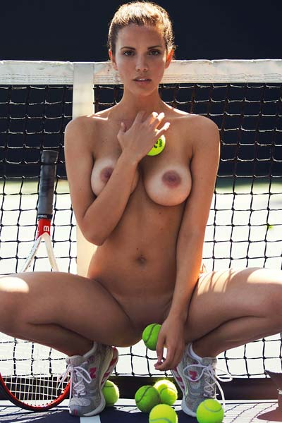 Katrina Elizabeth Brunette is feeling hot on the tennis court