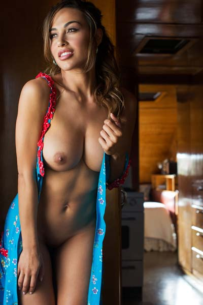 Irresistible brunette Ana Cheri slowly reveals her attributes