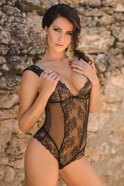 Outstanding natural brunette Anastasiya Nikitina is a true goddess