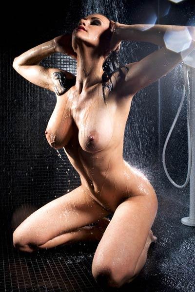 Slender busty babe Manja Dobrilovic showcases her smoking hot body