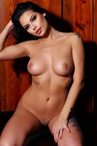 Shelly Lee with her magnificent curvy body enjoys her breakfast naked
