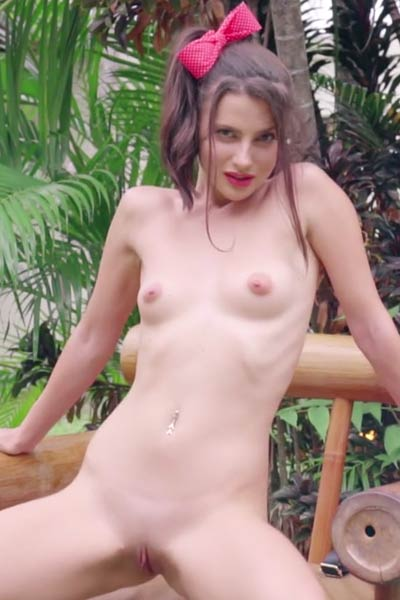 Young model Jasmine Jazz bares her nubile naked body just for you