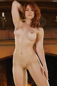 Sexy redhead doll moves her naked body seducing you into satisfying her sexual needs