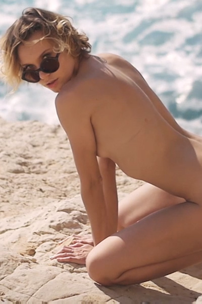 Would you join her on that rocky beach and have some sexual fun