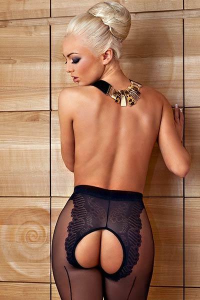 This good looking blonde goes wild in sensual posing