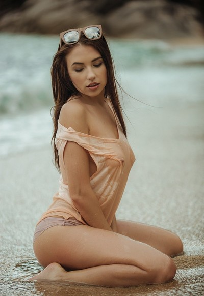 Niemira in Kicking Up Sand from Playboy