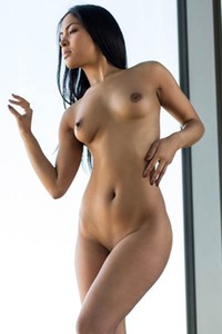 All naked all natural brunette doll with beautiful smile posing naked for you