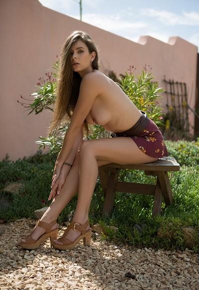 Lauren Lee in Courtyard Caress from Playboy