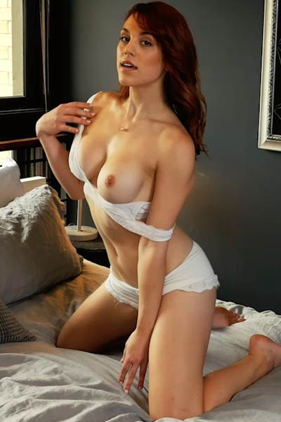 Take a break and hurry up because horny brunette doll is waiting you in her bed
