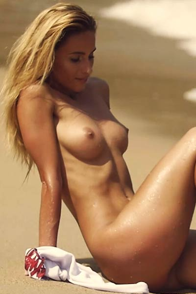 Top class young girl loves going on nude beach to feel free