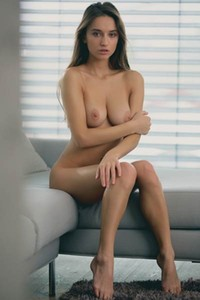 The look in her eyes and her naked slim body are just calling for some sex action
