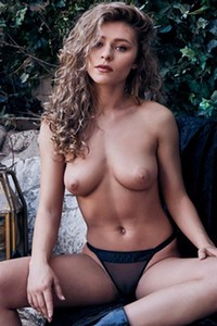 Top class young lady Alice Antoinette seductively poses naked after she gets undressed
