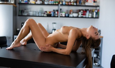 Gloria Sol in Tasting Table from Playboy