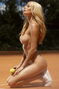 Blonde and adoring angel shows of her delightful body on many different locations
