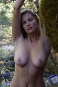 Look at Megan Moore sharing her bouncing ass and stunning natural boobs with us