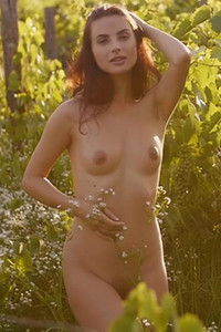 Brunette Jasmine Jazz gives us a nice view of her stunning all natural body