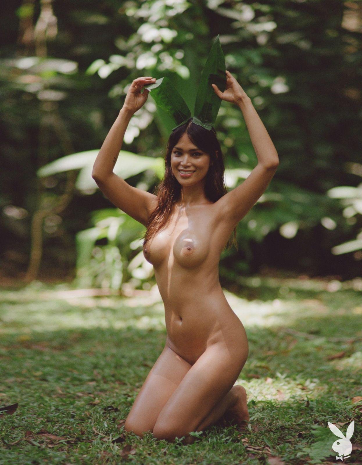 Geena Rocero Nude in Playmate August 2019 at Playmate Hunter