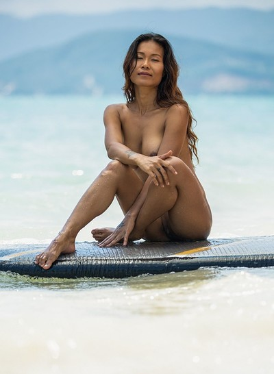 Maki Katana in Catching a Wave from Playboy