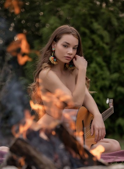 Clara in Acoustic Serenity from Playboy